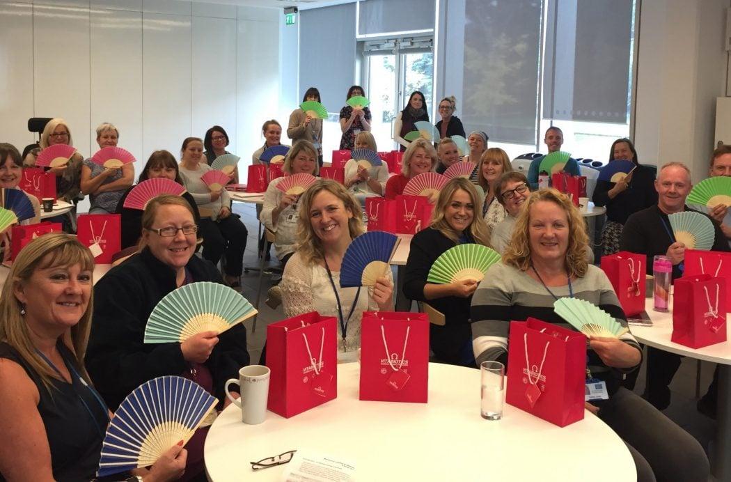 Severn Trent menopause training workshop at Shelton