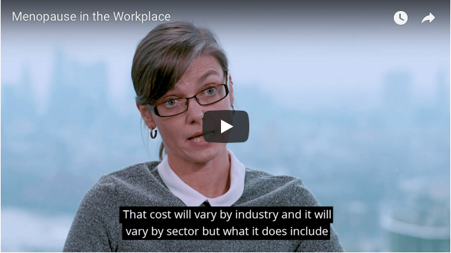 Menopause in the workplace explained on video by Government researcher Professor Jo Brewis