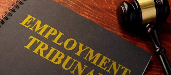 Book with title employment tribunal on front cover