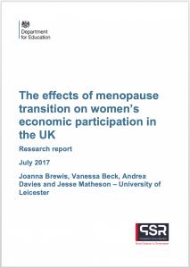 report on menopause, work, workplace