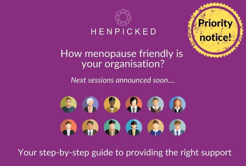 menopause, menopause training, employers