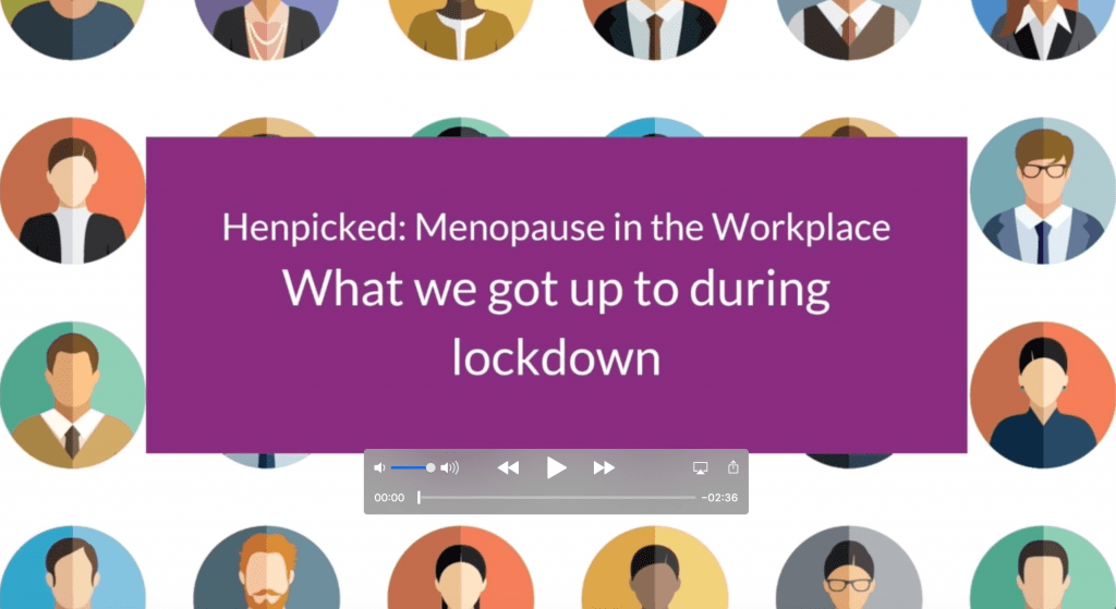 lockdown, menopause at work, menopause in the workplace, training, support